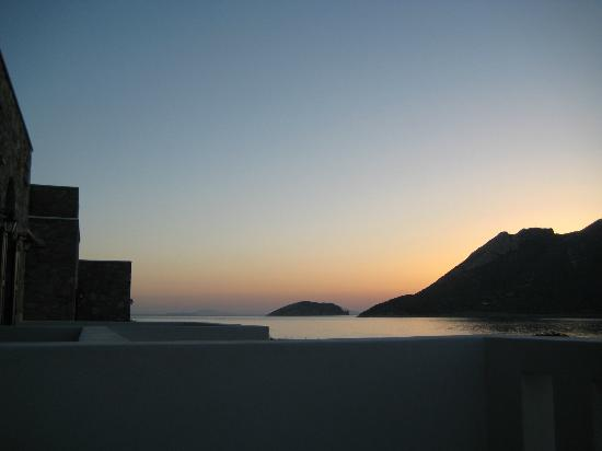 Aquapetra Hotel: sunset from my room