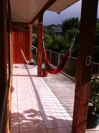 Cabinas Eddy B&B: Balcony & Hamocks