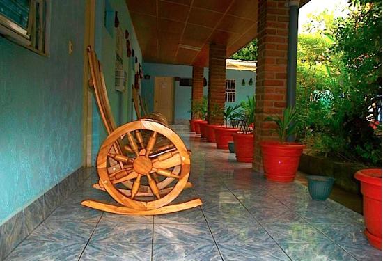 Hotel El Rosario: Outside the rooms