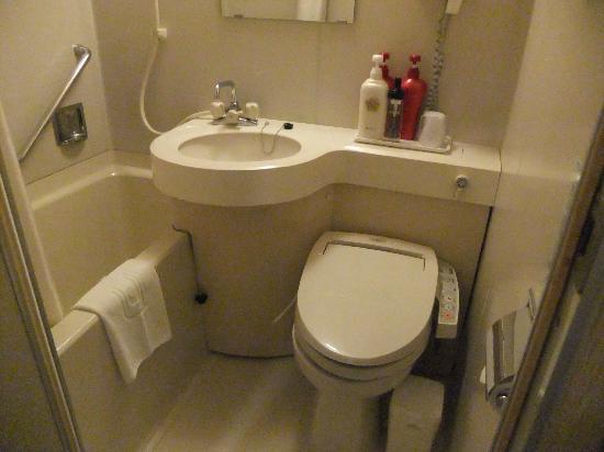 APA Hotel Kamata Eki Nishi: コンパクトサイズのバスルーム