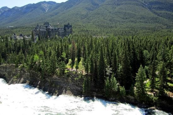 Banff Springs Hotel from Tunnel Mountain Drive