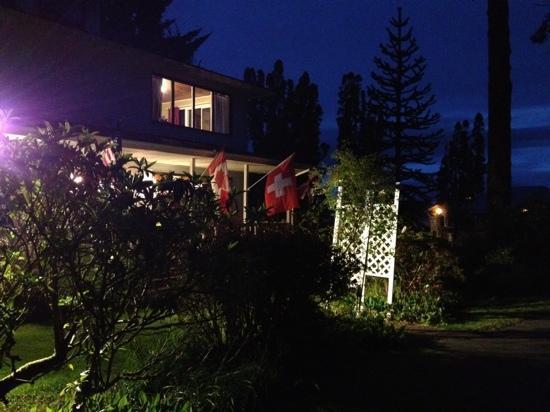 Miller Tree Inn Bed & Breakfast: Die Schweizerfahne wurde sofort nach unserer Ankunft ausgehängt