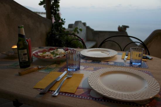 PositanoHouse: cena in terrazza