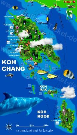 Map Koh chang - Picture of Baan Ton Rak Boutique Resort, Ko Chang ...