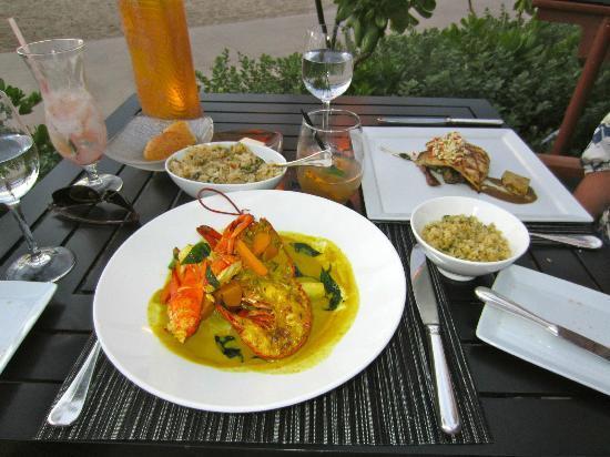 Pahu ia Restaurant: Lobster Curry $59 Onaga $32 Mushroom Fried Rice $10 Mai Tai $16 Abalone $28 Chocolate Souffle $1