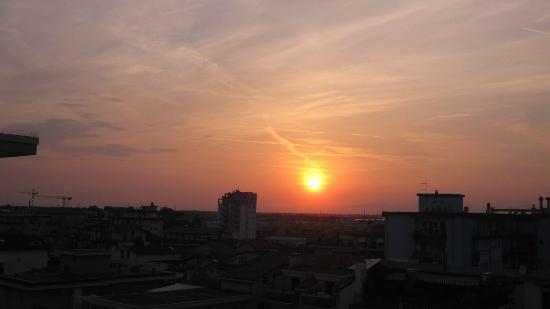 Hotel Laurin: il tramonto dalla camera 504