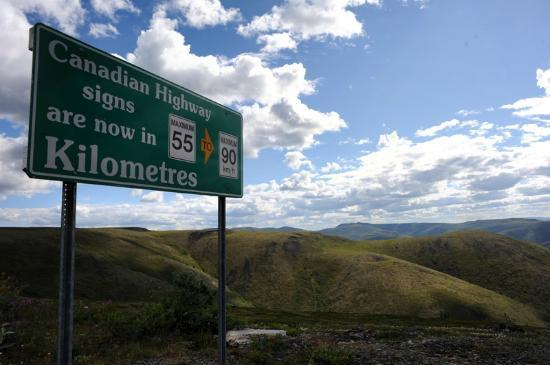 Top of the World Highway: Crossing into Yukon, Canada