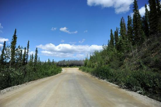Tok, AK: Most of the road looks like this -- unpaved