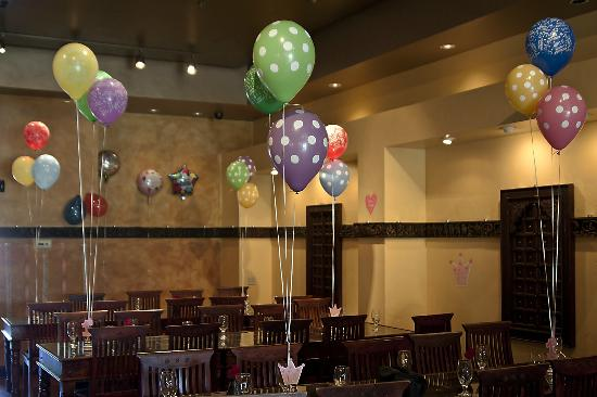Madhuban Indian Cuisine: Party decoration on-site.