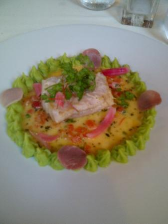 Villa Ilbarritz : merlu mousseline feve et petits pois