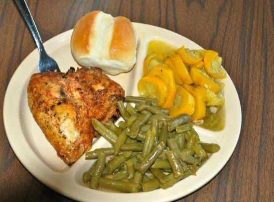 Bar-B-Q By Jim: Very Good Grilled Chicken w/ unedible squash and green beans