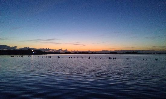 Camping de Badhoeve: Sonnenuntergang am Kinselmeer- Sehr Schön