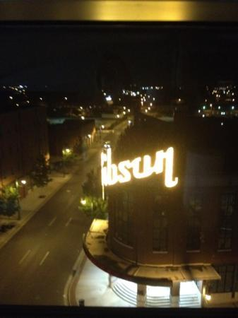 The Westin Memphis Beale Street: view at night from our room