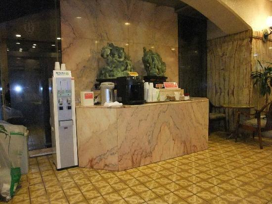 Hotel Suntargas: コーヒーコーナーです。