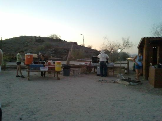 Arizona Horses (Ponderosa Stables and South Mountain Stables): Getting ready to eat