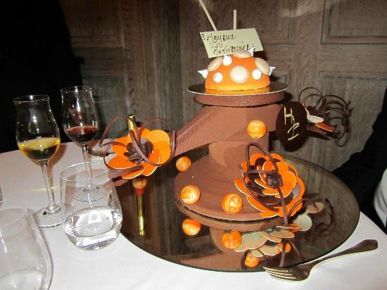 Hostellerie De Plaisance Restaurant: Mon gateau d'anniversaire
