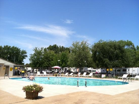 Sandusky KOA campground : campground pool