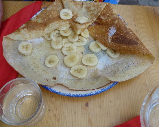 Restaurant Creperie Lou Rastelier: crepe banana, miele e zucchero