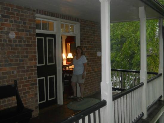 The Zevely Inn: entering room from second floor balcony