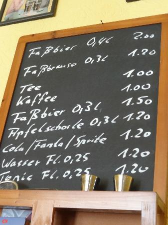 Marktstubel: Prijslijst Marktstubl Colditz