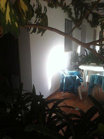 Hostal El Capi: porche individual de cada habitación