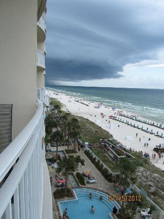 Aqua: approaching storm front