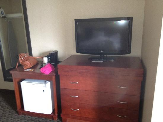 Holiday Inn Windsor Downtown: TV & cabinet