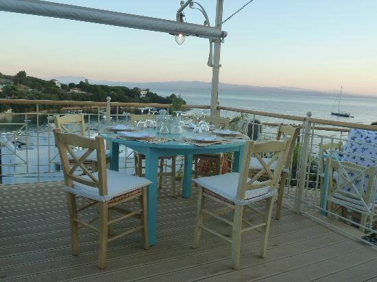 Infinity Blue: Stunning views across Kolios beach