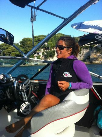 Cap Ferrat Watersports : A beautiful instructor-driver....