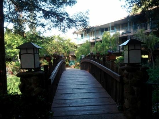 Creekside Inn: sweet bridge
