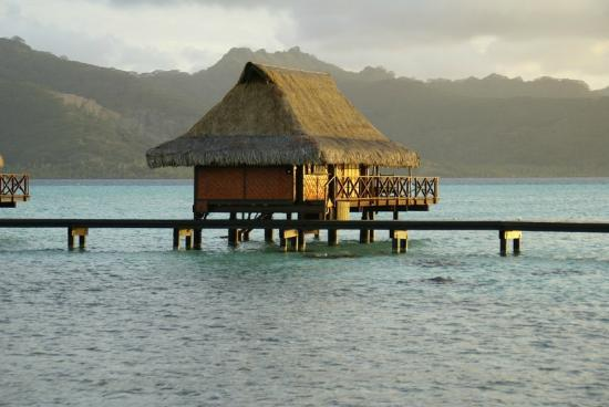 Vahine Island Resort: over-the-water bungalow