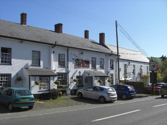 The Hood Arms: The outside of the pub