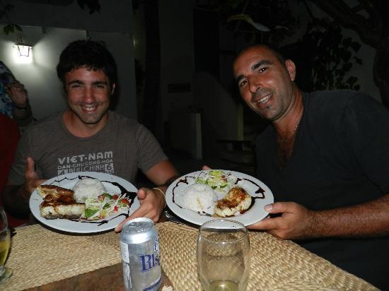 Posada La Laguna: Comiendo