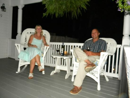 Yardarm Village Inn: Evening on the porch