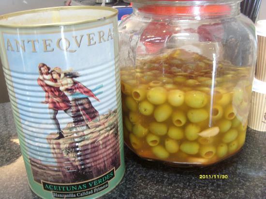 Brown Deli: Marinated Malaga olives with garlic