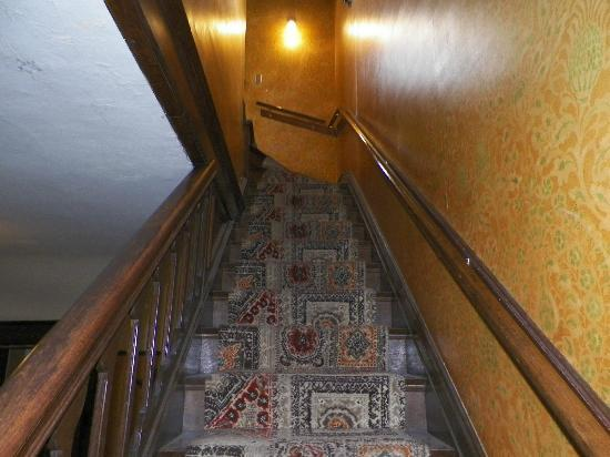Redstone Castle: The stair way to the Nanny's room & nursery from the 2nd floor.