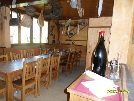 Les Cîmes du Leman : La salle à fondue