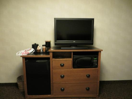 Stoney Creek Hotel & Conference Center - Sioux City: Television and fridge
