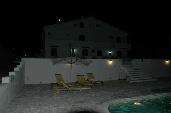 Il Sogno di Alghero: The pool after sunset