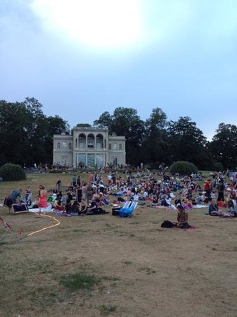 Musee d'Histoire des Sciences: museum grounds have free movies most evenings in may-July