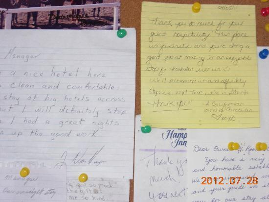 Century II Motel: letter 2