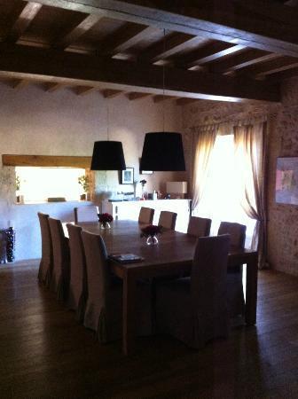 Maison D'hotes Bordeaux Saint Emilion : Villa Beylie: La salle du dîner