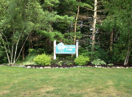 Excited as can be as we enter White Birch Lodge for the first time
