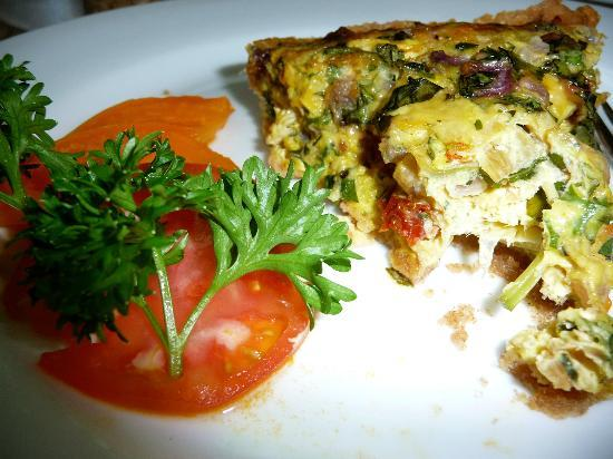 Waianuhea Bed & Breakfast: Breakfast: quiche