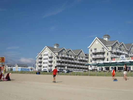 Grand Victorian: View from beach at condo