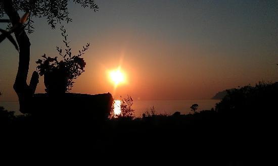 Stevens on the Hill: Sunset from restaurant