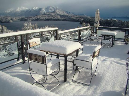 Punto Panoramico (Mirador & Bar): Llegó la nieve!...