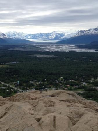 Bodenburg Butte: View of Knik Glacier and the Butte community from the top.