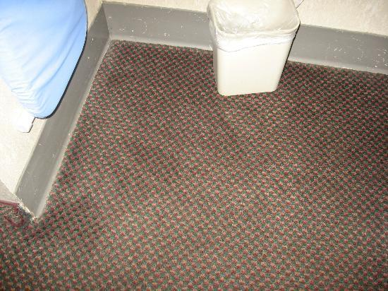 Ramada Asheville / Biltmore West : Stains where the clothes rod was