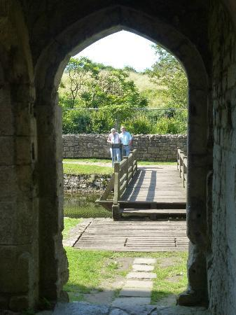 Bridge over moat to castle
